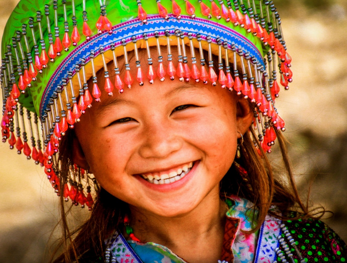Ethnic tribe girl, northern Laos