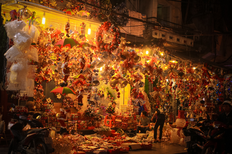 Hang Ma Street - Best place to celebrate Christmas in Hanoi, Vietnam