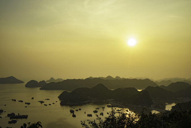 Sunset view from Cat Ba Vietnam