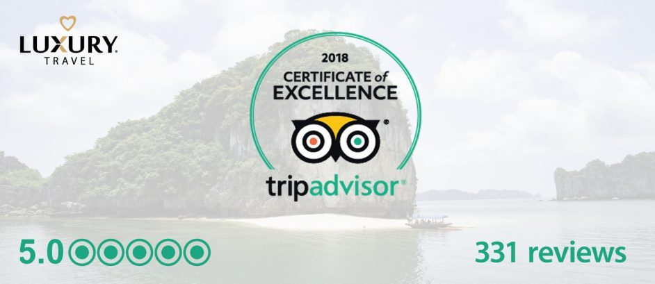 2018 Trip Advisor Certificate of Excellence Luxury Travel