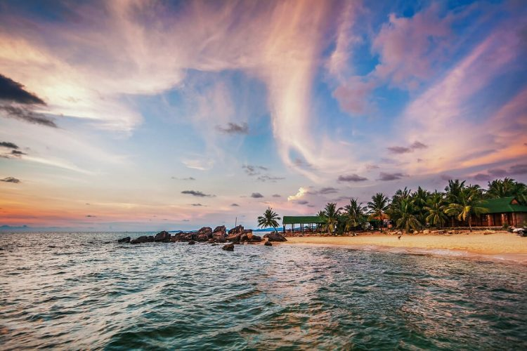 sunset in phu quoc - one of most beautiful beaches in Vietnam