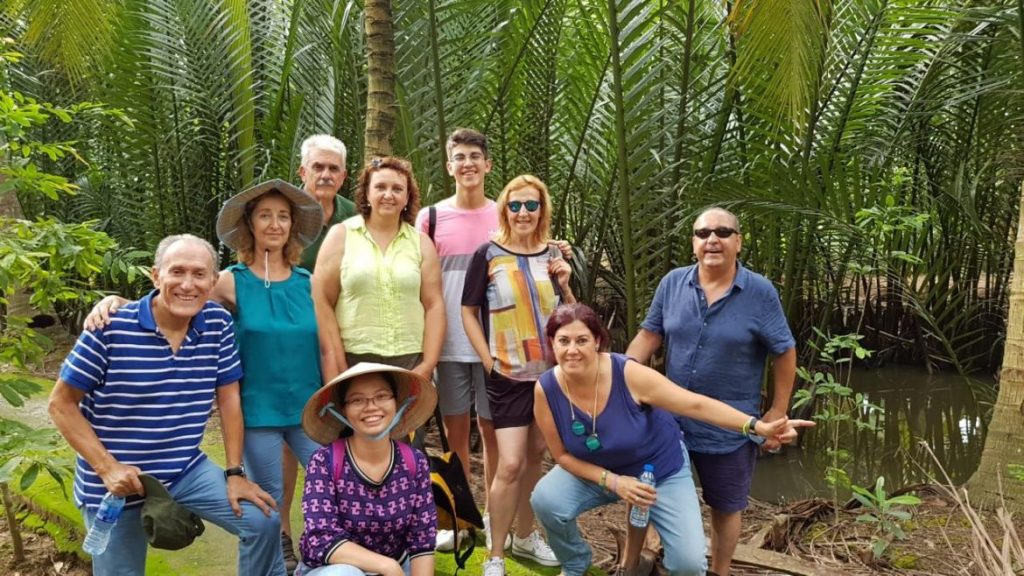 Happy customers travel to Mekong Delta